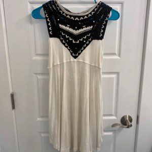 Free People White Beaded Tunic